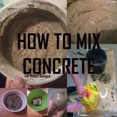 How to Mix Concrete or Cement: 4 Steps (with Pictures) Ready Mixed Concrete, Concrete Cement, Concrete Crafts, Concrete Projects, Concrete Blocks, Stamped Concrete, Diy Projects, Cement Pavers, Cement Art