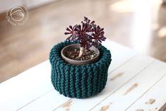 kosz ze sznura robiony na drutach   #knit