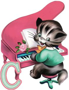 Cartoon Musical Animals Free To Copy For Your Own Personal Use.All Cartoon Animal Pictures Are On A Transparent Background. Kitten Cartoon, Cartoon Pics, Cartoon Styles, Cartoon Characters, Birds In The Sky, Animal Silhouette, Picture Editor, Animal Cards, Illustrations