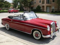 1957 Mercedes-Benz 220S Cabriolet. I love older cars. MY first car was an antique Mercedes. I was only 17. Everyone laughed at me. But, I sold it to a collector and made good money. lol Then, I laughed. :)