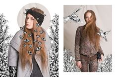 Wild Wood Fashion Editorial Illustration by Paolo Geronimo, via Behance