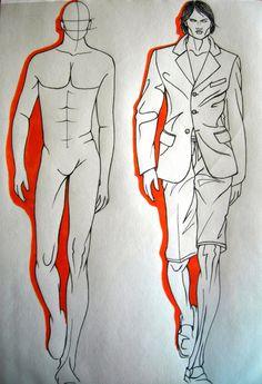 studi di figurini ( moda uomo)