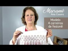 Macramê Ana Casara - YouTube Macrame Toran, Macrame Bag, Macrame Bracelets, Crochet Motifs, Free Printable Calendar, Macrame Tutorial, Macrame Patterns, Knots, Sewing