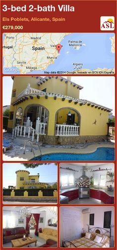 3-bed 2-bath Villa in Els Poblets, Alicante, Spain ►€279,000 #PropertyForSaleInSpain