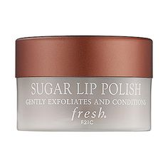 Part of my every day regimen....Sugar Lip polish by Fresh...gentle enough to use every day if you wanted to, effective and does the job - you get soft, supple lips, no more ugly chapped, flaky lips!!  PS Hubby loves how soft my lips are ;) Fresh Sugar Lip Polish: Lip Balm & Treatments | Sephora