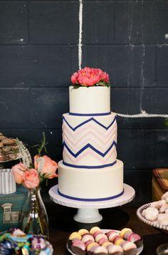 Gorgeous chevron cake!