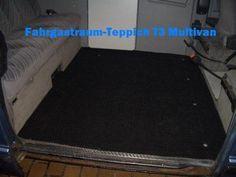 Gastraumteppich Fußmatte Teppich hinten für VW Bus T3 Multivan Magnum