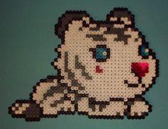 Kawaii Tiger Maplestory perler beads by yurai-yukimura on deviantART Made this cross stitch, turned out amazing! Pearler Bead Patterns, Perler Patterns, Pearler Beads, Pixel Pattern, Iron Beads, Melting Beads, Perler Bead Art, Beaded Animals, Sprites
