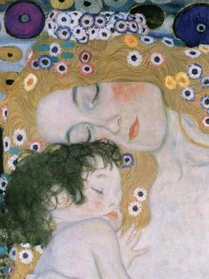 Gustav Klimt - Three Ages of Woman - Mother and Child painting