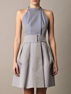Pointillist jacquard dress