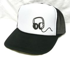 Headphones left sideTrucker Hat - Movie, TV, Music Trucker Hats Snap Backs and More