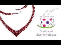 diy easy swarovski bicone necklace| beaded necklace tutorial |how to make necklace|handmade jewelery - YouTube