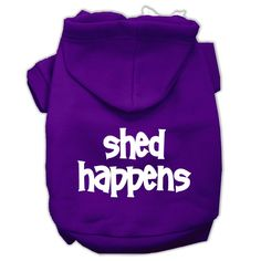 Shed Happens Screen Print Pet Hoodies Purple Size XL (16)