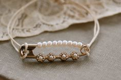 Seed pearl. friendship,romantic pin,string bracelet. Tiedupmemories