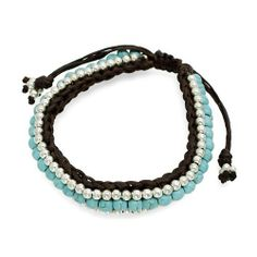 """Beaded Knot Turquoise Stone Braided Adjustable Handmade Bracelet Silver Blue Accessoriesforever. $23.25. Color: Silver, Brown, Turquoise. Item Name: Precious Turquoise Stone Braided Adjustable Handmade Bracelet. Style: Braided, Wrap, Adjustable Knot Closure. Dimensions (Size): One Size (Adjustable: Fits Wrist Size Up to 8.5""""). Nickel / Lead Compliant. Material: Turquoise Stones, Brown Waxed Thread Cord, Silver Beads, Rhodium / Silver Plated"""