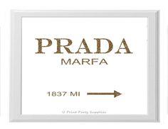 Prada Marfa ~ Office and Home Decor by U Print Party Supplies #prada #pradamarfa #gossipgirl