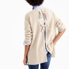 Italian cashmere tie-back sweater