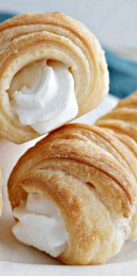Puff Pastry Cream Horns ❊