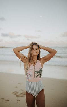 ATTENTION! The Bombshell Swimsuit is NOW available in our beautiful Lulu print! And just in time for spring break! This swimmer is modest, nursing friendly, chic, slimming and super unique! Florals up top and flattering vertical stripes on bottom. To see