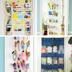 We've all seen those over-the-door shoe organizers — you know, the ones made of canvas or plastic with all the little pockets for you to stuff your shoes in. Although we here at Apartment Therapy personally prefer other ways to store shoes, we've come to realize that over the door shoe organizers have a myriad of uses that have nothing to do with footwear. Here are a few of our favorites.
