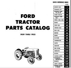 Ford Tractor Parts, Ford Tractors, Power Take Off, Prefixes And Suffixes, Hydraulic Pump, Parts Catalog, Ignition Coil, Oil Filter, Repair Manuals