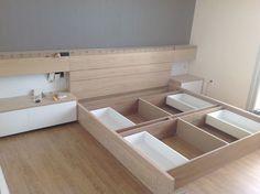 NỘI THẤT CĂN HỘ CANTAVIL PREMIER Interior Design Layout, Restaurant Interior Design, Interior Design Living Room, Making A Bed Frame, Diy Bed Frame, Diy Pallet Furniture, Bed Furniture, Creative Beds, Low Loft Beds