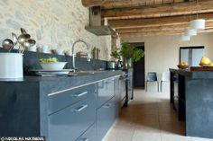 french kitchen,grey, slate