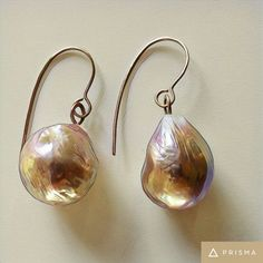 Must have - Edison baroque 15-16 mm earrings mounted on rosè gold.