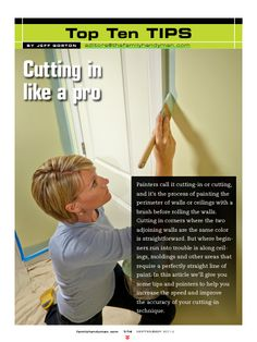 """Cutting in Like a Pro"" in The Family Handyman September 2014."