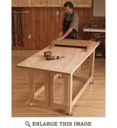 Folding Work Table Woodworking Plan