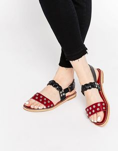 Hy+By+Hudson+Axis+Strap+Leather+Flat+Sandals