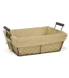 Organizing Essentials™ 13x10 Wire Basket With Burlap Liner. Decorative  StorageStorage ...