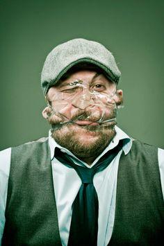 Hilarious Scotch Tape Portraits by Wes Naman