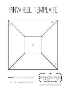 Pinwheel template --- just need some paper  in whatever pattern/color used elsewhere in wedding...lining of invitation envelope? Place cards borders? Bouquet colors?