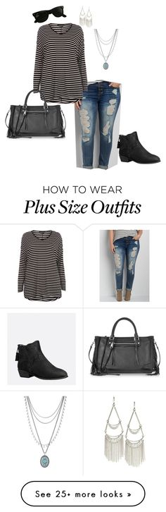 """Fall is Coming!- Plus Size Outfit"" by boswell0617 on Polyvore featuring maurices, Dorothy Perkins, Avenue, Lucky Brand, Rebecca Minkoff and Ray-Ban"