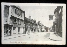 Church Street, Newent, Gloucesetrshire, looking east from the former Bull Inn. c1905