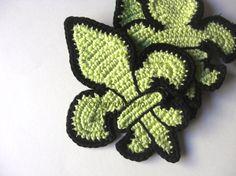 fleur de lis crochet pattern afghan | Crochet Coasters Fleur de Lis - This week on my desk
