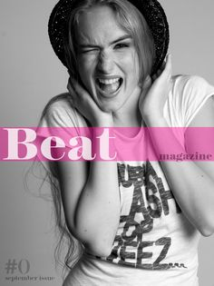 We are going to be publishing and designing The Beat magazine. The magazine will deliver short creative online editorials.    On cover for #0 issue model Ramute Valaityte, styling Anna Vila, make up Mireia Stickseas, photo, design and art direction Toni Miret Studio
