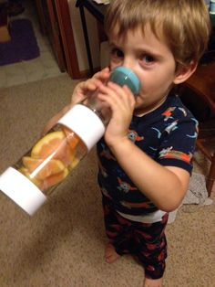 Never to young to start healthy hydration.  Looks like this tike stole his mom's Define Bottle!