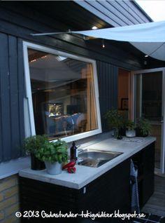 Godastunder &Tokiga Ideèr: Utekök Outdoor Gardens, Porch, Inspiration, Outdoor Decor, Outdoor Kitchens, Outdoors, Home Decor, Balcony, Biblical Inspiration