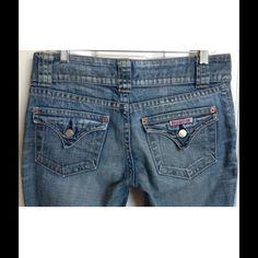 "Hudson jeans Size 28.  Boot cut style.  98% cotton & 2% spandex.  Waist- 32"", Inseam- 29"", Rise- 7 1/2"" Hudson Jeans Jeans Boot Cut"