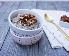Toasted Maple Pecan Overnight Chia Pudding by @nourished_wellness is both beautiful and nutrient-dense!