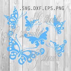 Butterflies SVG Cutting file Butterflies Clipart by SVGsilhouette