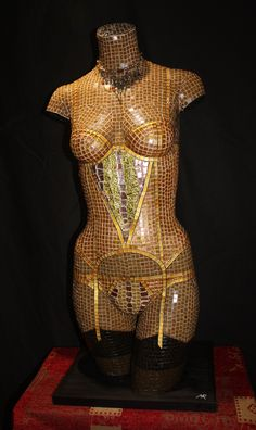 Golden Basque. Hand crafted from thousands of glass tiles.