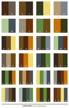 Color Combination Quick Reference Guide: Earthtones