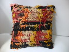 16 x 16 SHAGGY Tulu Kilim Rug Pillow CoverColorful by pillowshome