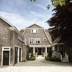 House Front Door, Gambrel, Dream Homes, Beach House, Exterior, Cabin, Doors, Mansions, House Styles