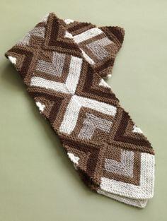 Free Knitting Pattern 80802 Mitered Scarf : Lion Brand Yarn Company