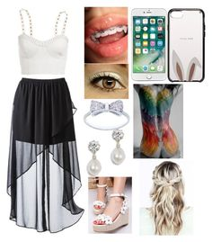 """""""A Vampire with braces?"""" by kiara-fleming ❤ liked on Polyvore featuring Pangmama, Bardot, Xhilaration and Kate Spade"""