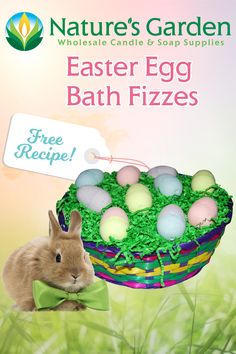 Free Easter Egg Bath Fizzy Recipe by Natures Garden